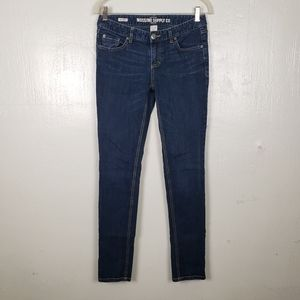 Mossimo Supply Co Skinny Low Rise Blue Jeans
